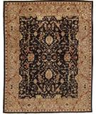 RugStudio presents Due Process Peshawar Farahan Black-Gold Hand-Knotted, Best Quality Area Rug